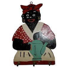 Collectible Black Memorabilia Painted Wood Plaque