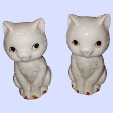 Sweet Ceramic Kitty Cat Salt Pepper Shakers Japan