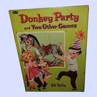 Vintage Children's Party Game Pin the Tail on the Donkey 1941
