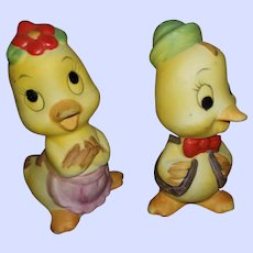 Oh So Sweet Ceramic Yellow Chick Salt Pepper Shakers Taiwan