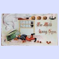 Gottschalk, Dreyfuss & Davis  Postcard For Auld Lang Syne Halloween