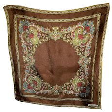 Vintage Silk Blend 60s era Designer Signed Small Scarf La Dear (REG'D)