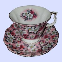 Pretty Vintage Chintz Teacup Saucer Set Royal Albert