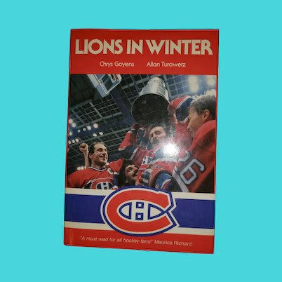 Hard Cover Collectible Book Lions in Winter Hockey Fans
