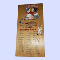 Charming Vintage Wood Peg wall Board Household Wants