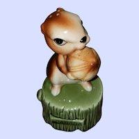 Travel Souvenir Ceramic Squirrel Stacking Salt Pepper Shakers