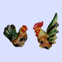 Colorful Rooster Hen Spice Salt and Pepper Shakers