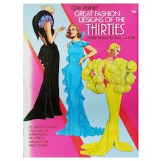 Soft Cover Great Fashion Designers of the Thirties Paper Doll Book