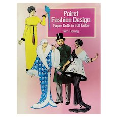 Soft Cover Book Poiret Fashion Design Paper Dolls by Tom Tierney