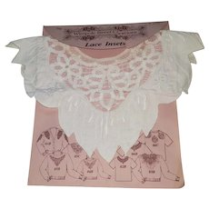 Vintage Wimpole Street Creations Battenburg and Cutwork Lace Inset Collar