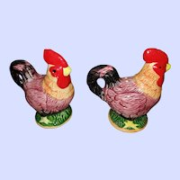 Bright Cheerful Rooster Salt Pepper Spice Shakers Taiwan