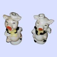 Sweet Collectible Sailor Piggy Pig Salt Pepper Spice Shakers