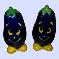 Vintage Anthropomorphic Vegetable Head Egg Plant
