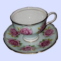 Pink Rose Floral Theme Paragon  Bone China Teacup Saucer