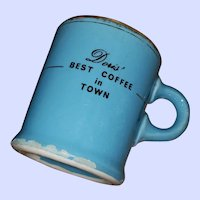 Advertising Restaurant Ware  Pottery Coffee Mug Hycroft Canada Medicine Hat Alberta