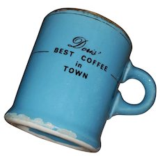 Advertising Restaurant Ware  Pottery Coffee Mug Hycroft Canada Medicine Hat Alberta