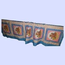 Sweet Teddy Bear Themed Child's Quilt Blanket