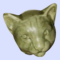 Collectible Vintage Kitty Cat Head Cat Ceramic Still Coin Bank