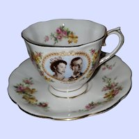 Royal Albert Teacup Saucer Queen Elizabeth II Visit Canada