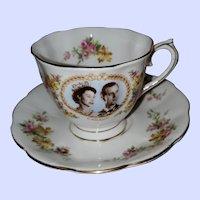 Royal Albert Teacup Saucer Queen Elizabeth II Visit Canada