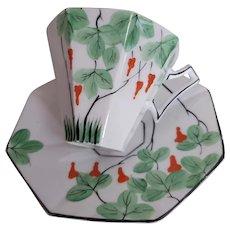 Hand Painted Melba Bone China Teacup Saucer
