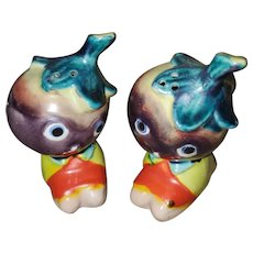 ANTHROPOMORPHIC     Purple Veggie Eggplant Salt Pepper Shaker Set