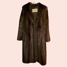 Vintage Canadian Fur Company Hartford Nutria Ladies Fur Coat