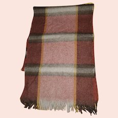 Glengarry Finest Imported Botany Wool Plaid Scarf by Currie Hand Loomed