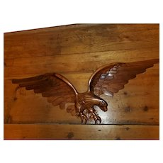 Solid American Walnut Carved Eagle Sculpture