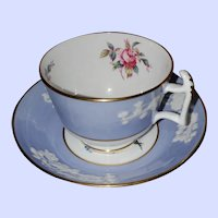 Spode Copeland China England Maritime Rose Teacup Saucer Set
