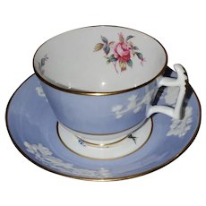 Spode Copeland China England Maritime Rose Teacup Saucer Set