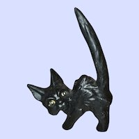 MEOW Black Unmarked SylvaC England Black Scaredy Cat
