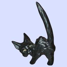 MEOW Black Unmarked SylvaC England Black Scaredy Cat