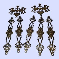 Seven Vintage Decorative Brass Findings