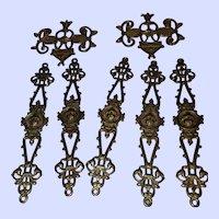 Seven Vintage Decorative Brass Findings