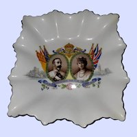Royalty Pin Dish 1910-1935 King George  Queen Mary Silver Jubilee Aynsley