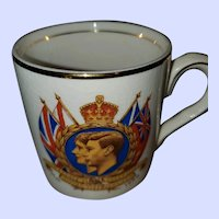 Collectible Royalty Mug King George VI Queen Elizabeth  Royal Visit 1939