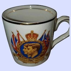 Collectible Royalty Mug King George VI Queen Elizabeth  Royal Visit 1939