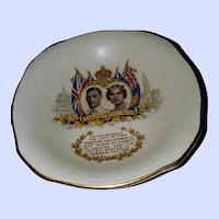Collectible Vintage Royalty Dish King George VI Royal Winton