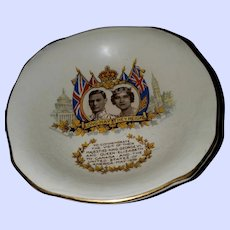 Collectible Vintage Royalty Dish King George VI Royal Winton