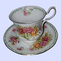 Special Flowers ROSINA January Special Flowers Carnation Teacup Saucer