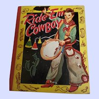 Vintage Children's Book Ride  Em Cowboy