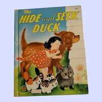 Hard Cover Children's Book The Hide and Seek Duck