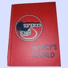 Hard Cover School Reader  Nancy's  World John C Winston