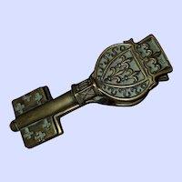 Decorative Bronze Metalware Clef Louis XII M le Verrier Postal Clip