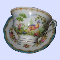 "Royal Albert ""Chelsea Bird"" Bone China  Tea Cup and Saucer -England"