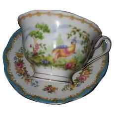 "Royal Albert ""Chelsea Bird"" Bone China  Tea Cup and Saucer -England"