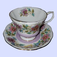 Royal Albert Bone China Teacup Saucer Set Jacobean