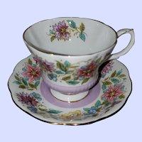 Royal Albert Bone China Teacup Saucer Set Jacobean