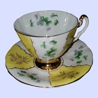 Adderley Fine Bone China Teacup Saucer Set England